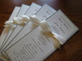 reception cards wording creative wedding program ideas