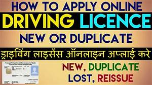 how to apply new driving licence online apply duplicate With apply for driving license lost