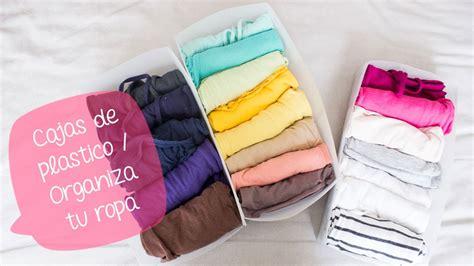 cajas de plastico organiza tu ropa cajones bigcrafts