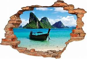 Image Trompe L Oeil : stickers trompe l 39 oeil 3d bateau 3 pas cher ~ Melissatoandfro.com Idées de Décoration