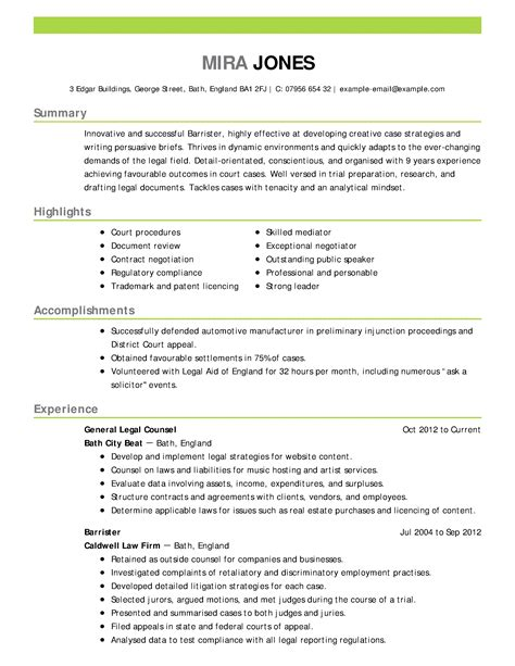 lawyer resume services