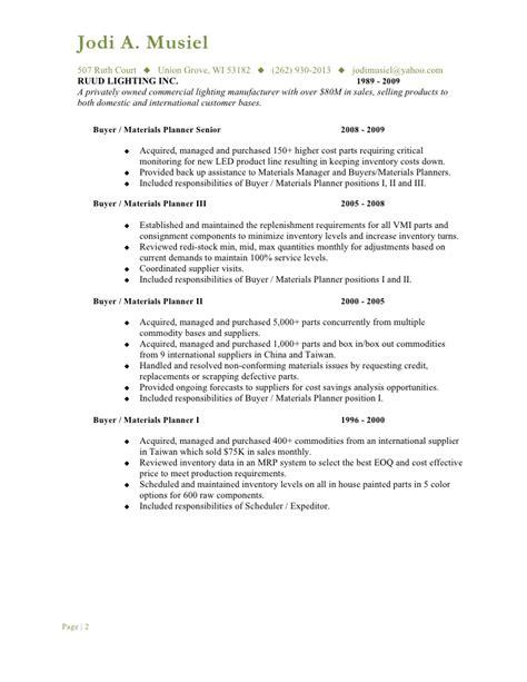 Resume Planner Buyer by Musiel Jodi A Resume Buyer