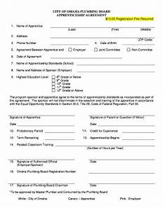 apprenticeship form fill online printable fillable With apprenticeship contract template