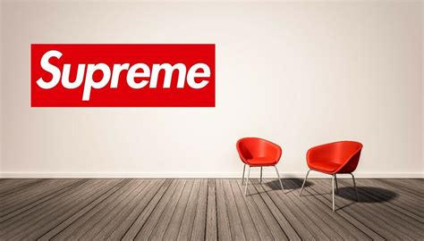 supreme ny logo fashion wall decal home decor vinyl
