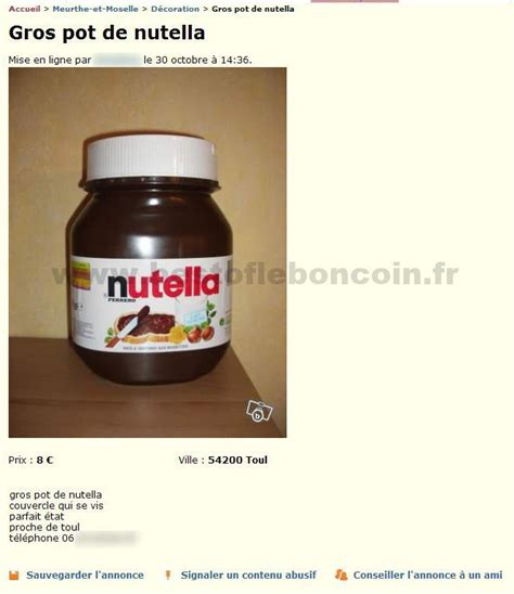 gros pot de nutella