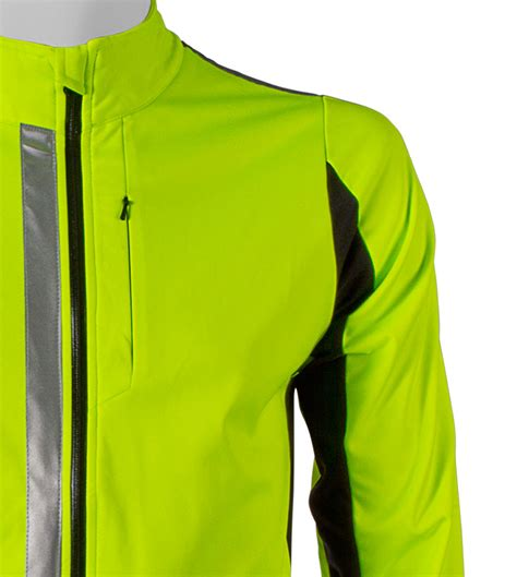 hi vis softshell cycling jacket 3m scotchlite reflective 360 high visibility full zip
