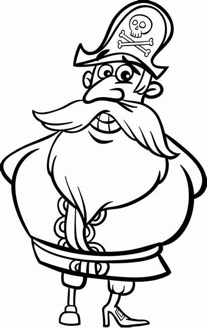 Pirate Cartoon Kapitein Colorir Coloring Piraat Kleurplaat
