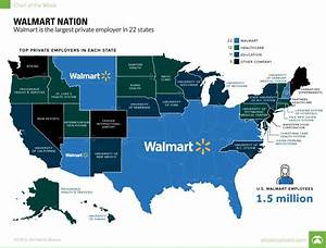 Walmart Nation: Map that shows the largest employer in ...