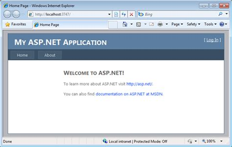 forms based authentication asp net scottgu s blog starter project templates vs 2010 and