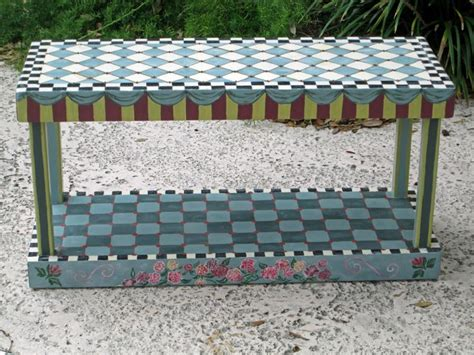Funky Benches by Whimsical Bench Funky Painted Furniture Funky Painted