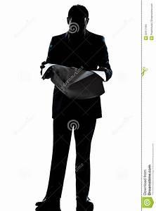Silhouette Man Full Length Saluting High Five Stock Photo ...