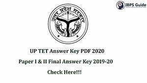 Up Tet Answer Key 2020
