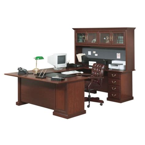 u shaped executive desk with hutch attractive functional traditional office furniture at