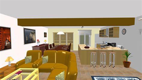 simulation cuisine entrée salon cuisine salle à manger