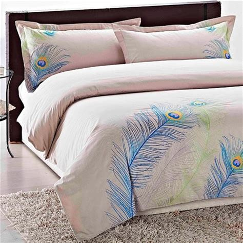 Peacock Bedding by Buy Embroidered Peacock King Size 3 Duvet