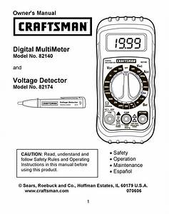 Craftsman 82140 Owner U0026 39 S Manual Pdf Download