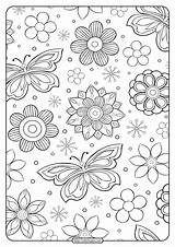 Flower Coloring Pattern Printable sketch template
