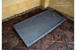 Receveur Sur Mesure : receveur de douche en pierre mayaka l 39 italienne granit ~ Premium-room.com Idées de Décoration