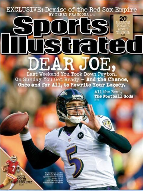 Joe Flacco Makes Sports Illustrated's Cover | Sports ...