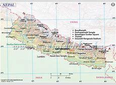 Nepal Map Map of Nepal