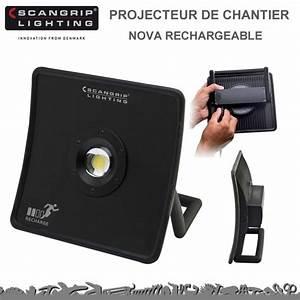 Projecteur De Chantier : projecteur de chantier nova rechageable 8990706 scangrip ~ Edinachiropracticcenter.com Idées de Décoration