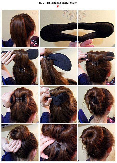 bun maker tutorial    bun hairstyles hair bun