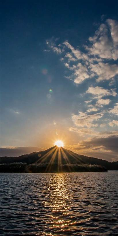 Wallpapers Sunset Lake Mountains A70 Samsung Galaxy