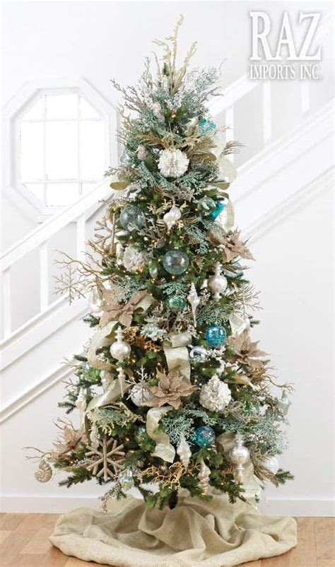 brilliant coastal chic christmas tree decorating ideas