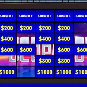jeopardy templates With free jeopardy template with sound