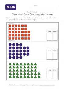 counting tens and ones worksheets tens and ones grouping worksheet two of two learning station