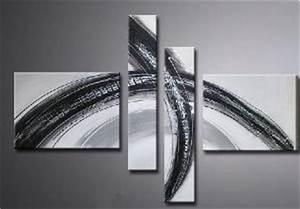 Tableau Metal Design : ttableau blanc m tal noir eva jekins ~ Teatrodelosmanantiales.com Idées de Décoration