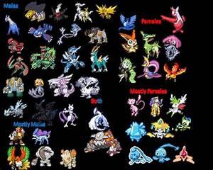 All Shiny Legendary Pokemon | Legendary Pokemon Genders by ...