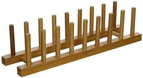 amazoncom lipper international  bamboo wood plate rack  pot lid holder