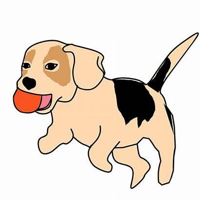 Dog Playing Catch Animal Bingo Vector Clipart
