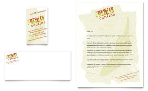 mexican restaurant business card letterhead template design