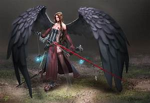 Angel Warrior Full HD Wallpaper and Background Image