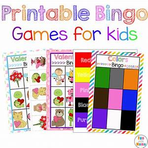 free printable bingo cards for kids fun with mama With kids bingo template