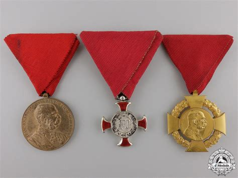 Awards And Decorations by Three Austrian Decorations Medals And Awards