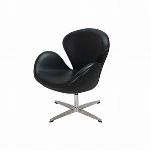 Arne Jacobsen Swan Chair (Black) - FormDecor