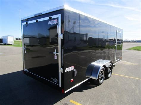 2018 Bravo 7x18 Scout 4 Place Enclosed Motorcycle Trailer
