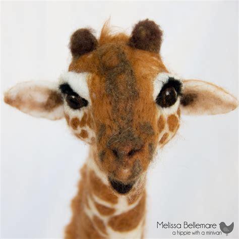hippie   minivan needle felted giraffe