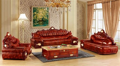 Leather Sofa Luxury by Aliexpress Buy Luxury Big European Leather Sofa Set