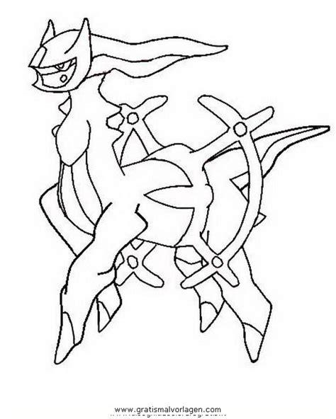 pokemon arceus gratis malvorlage  comic
