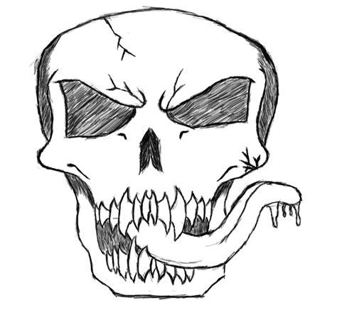 Digital Drawn Skull Rarnd Deviantart