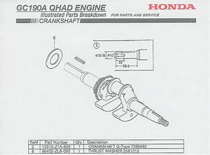 Honda Gc190 Parts Diagram