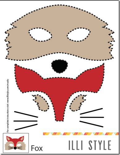 mascaras de coyote en fomi m 225 scara de zorro hacer fieltro o foam moldes