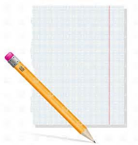 Notebook Paper and Pencil Clip Art