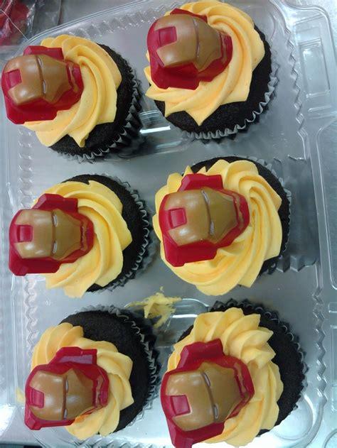 iron man cupcakes cupcake designs pinterest iron man
