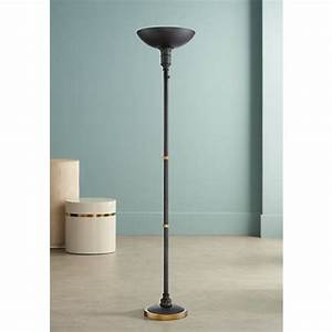 malibu dark bronze led touch dimmer torchiere floor lamp With touch torchiere floor lamp