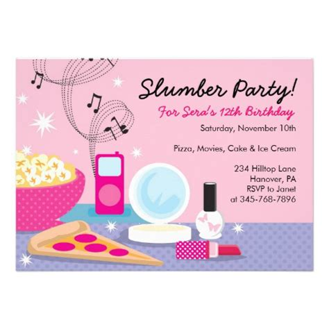 invitation party templates slumber party invitations templates free cimvitation